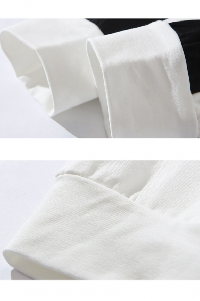Guys Trendy Colorblock Letter SPORET Printed Street Style Long Sleeve Casual Hoodie