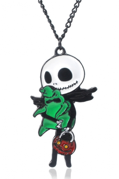 Halloween Funny Pumpkin Comic Skull Character Shaped Pendant for Gift