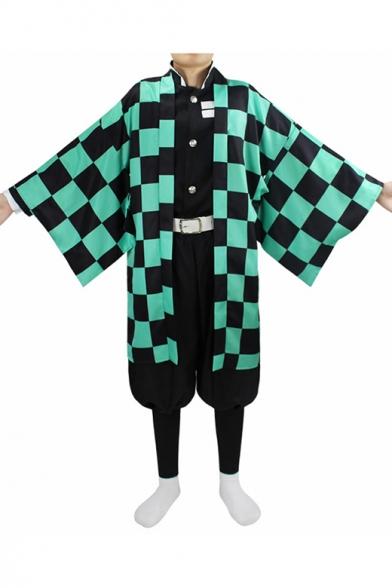 Mens Hot Popular Comic Cosplay Costume Kimono Seven-Piece Coat Set