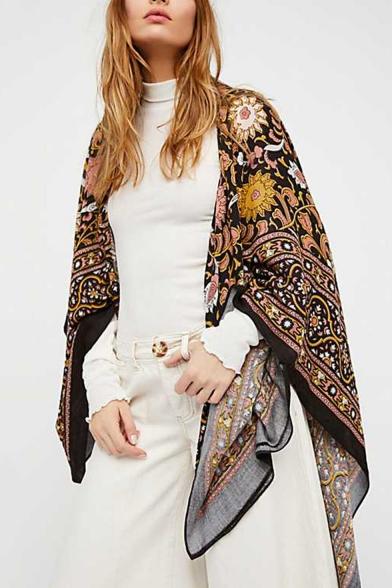 Summer Womens Fashion Pattern Holiday Beach Sunscreen Kimono Blouse