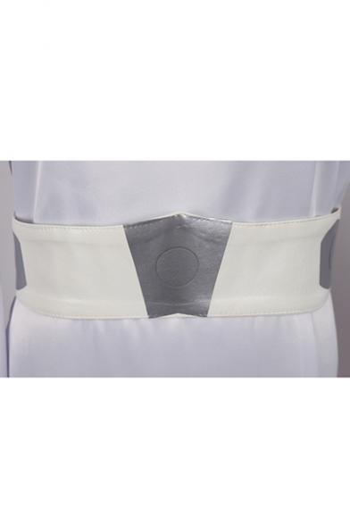 Womens Princess Leia Dress - Star Wars Hoodie Bell-Cuff Belt Costume white Cosplay A-Line Maxi Dress