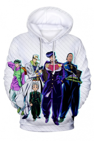 JoJo's Bizarre Adventure New Fashion Comic Character 3D Printed Long Sleeve Unisex Loose Pullover Hoodie