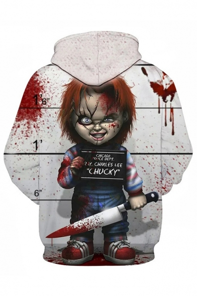 Cool Horror Blood Chucky Doll 3D Printed Sport Loose Pullover Hoodie