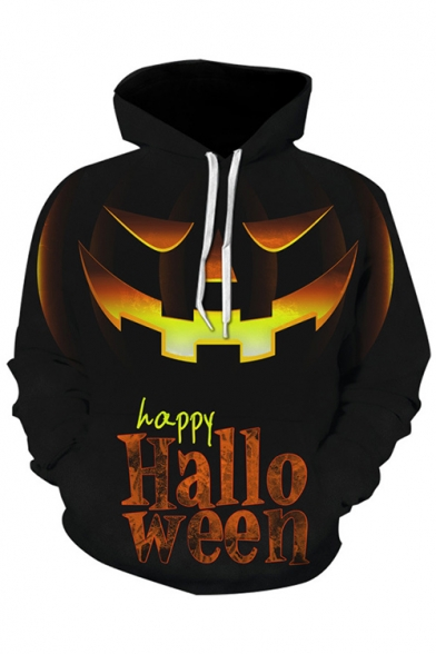 Halloween Cool Pumpkin Figure 3D Print Long Sleeve Unisex Hoodie