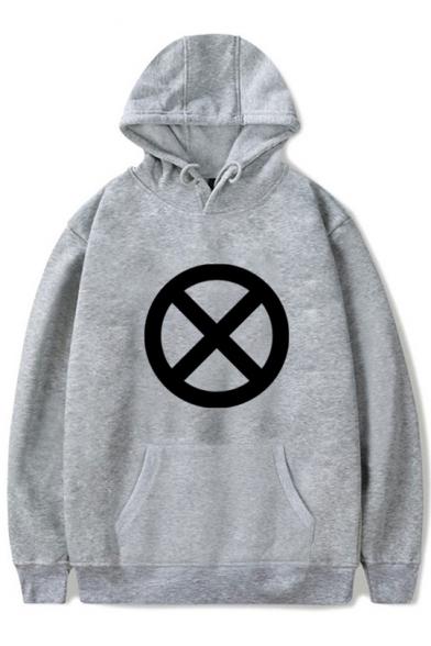 Fashion Comic Circle Logo Printed Unisex Sport Loose Hoodie