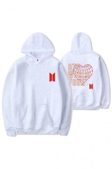 Fashion Kpop Boy Band Logo World Tour Sport Loose Unisex Pullover Hoodie