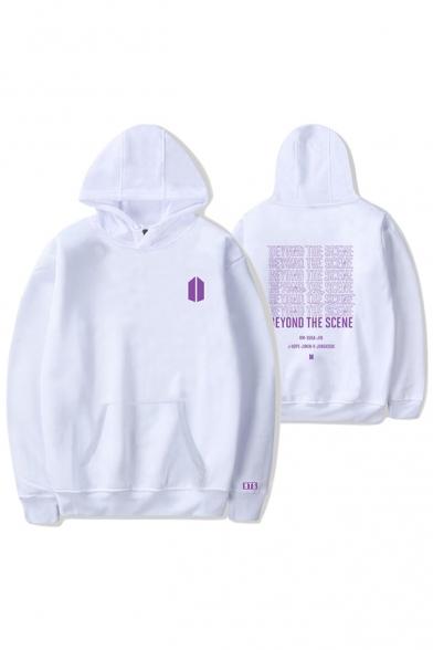 Fashion Kpop Boy Band Logo Beyond The Scene Letter Print Unisex Hoodie