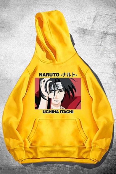 Itachi Uchiha Comic Character Printed Loose Casual Pullover Hoodie