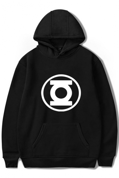 Cool Unique Comic Logo Printed Loose Fit Pullover Unisex Hoodie, Black;pink;red;white;gray, LC558985