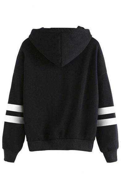 Fashion Kpop Boy Band Logo Printed Stripe Long Sleeve Unisex Hoodie