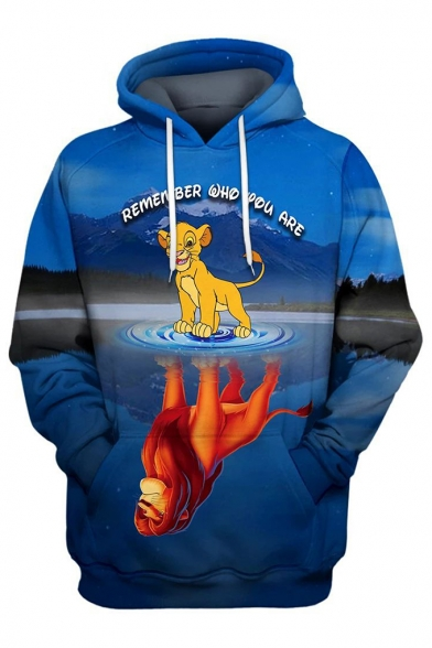 Popular The Lion King Simba 3d Printing Long Sleeve Unisex Sport Loose Hoodie Beautifulhalo Com