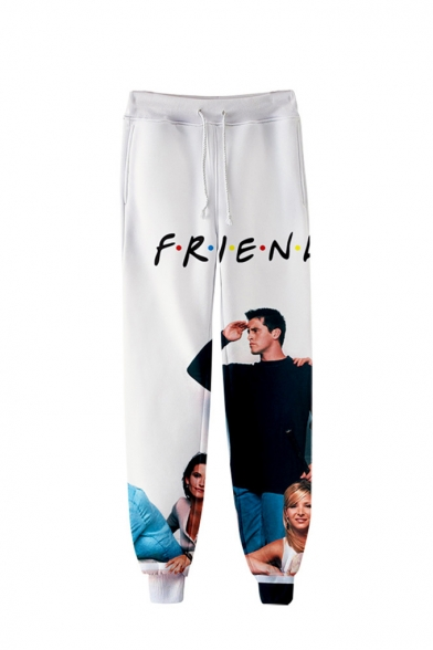 Hot Popular Friends 3D Figure Printed Drawstring Waist Sport Joggers Sweatpants