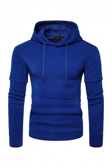 Hot Popular Plain Long Sleeve Pullover Hoodie with Pocket