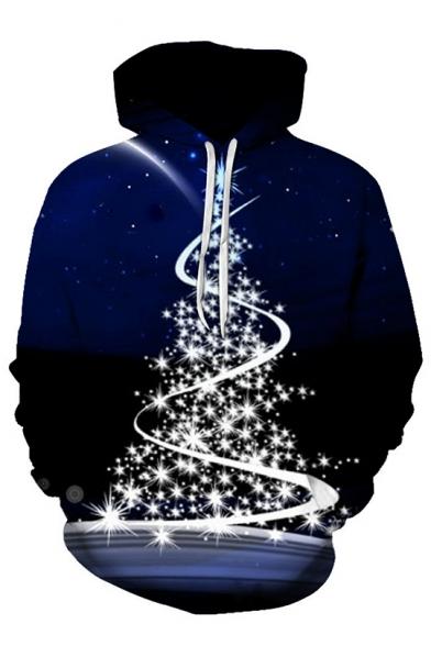 Winter Popular Christmas Series Christmas Tree Santa Jingle Bells Long Sleeve Unisex Hoodie