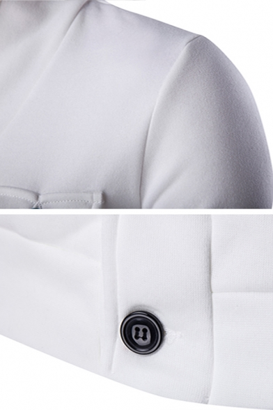 Fashionable V-Neck Button Front Long Sleeve Flap Pocket Solid Color Sweatshirt