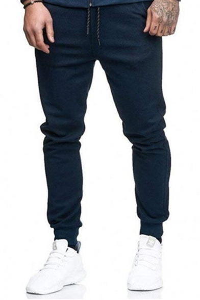 Men's Plain Joint Lashing Belts Outdoor Casual Jogger Pants