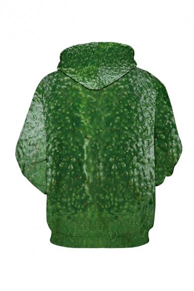 Unisex Fashion Cool 3D Skeleton AVO NICE DAY Printed Long Sleeve Loose Drawstring Hoodie