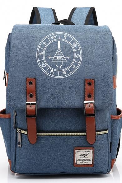 Hot Anime Logo Printed Belt Buckle Teens Backpack School Bag