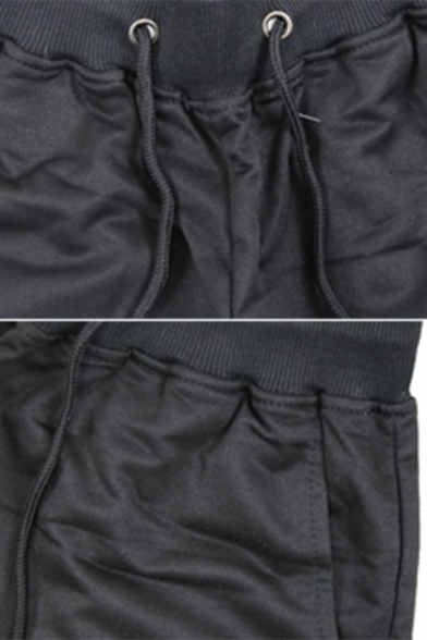 STAR LABORATORIES Letter Printed Black Lightweight Relaxed Jogger Shorts