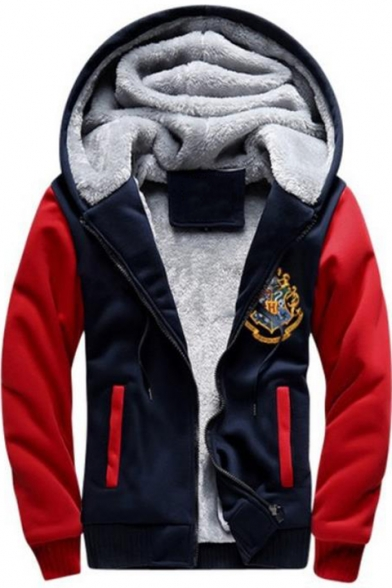 Cool Harry University Logo Chest Letter I SOLEMNLY SWEAR THAT I AM UP NO GOOD Print Zip Up Fit Hoodie