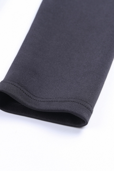 Black Elegant Deep V-Neck Puff Long Sleeve Gathered Waist Mini A-Line Dress for Party