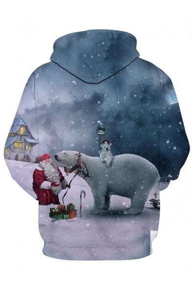 Unisex Popular Christmas Theme 3D Print Long Sleeve Leisure Drawstring Hoodie