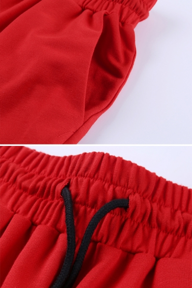 Sport Fashion Plain Long Sleeve Half Zip Sweatshirt with Loose Sweatpants Two-Piece Set