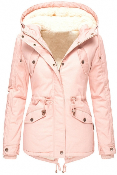 Shakumy Womens Colorblock Oversized Sherpa Pullover Hoodies Parka Jacket Winter Fleece Zipper Outwear Coats with Pockets