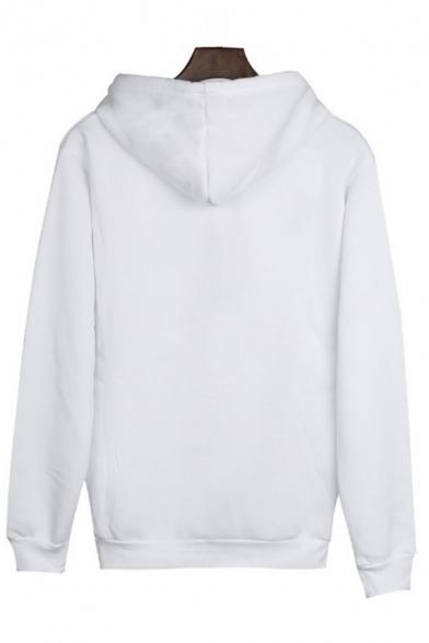 Cool Street Long Sleeve Hooded Heart Printed Kangaroo Pocket Baggy Hoodie for Girls