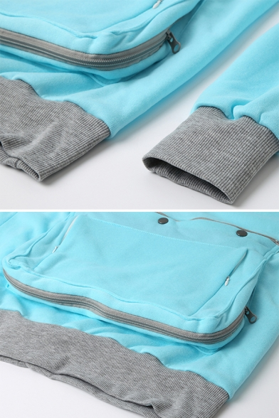 Unisex Adult Fashion Long Sleeve Pullover Hoodie with Big Kangaroo Pet Pouch