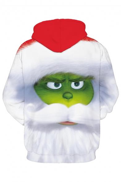 Funny Green Monster 3D Pattern Long Sleeve Loose Fit Christmas Hoodie