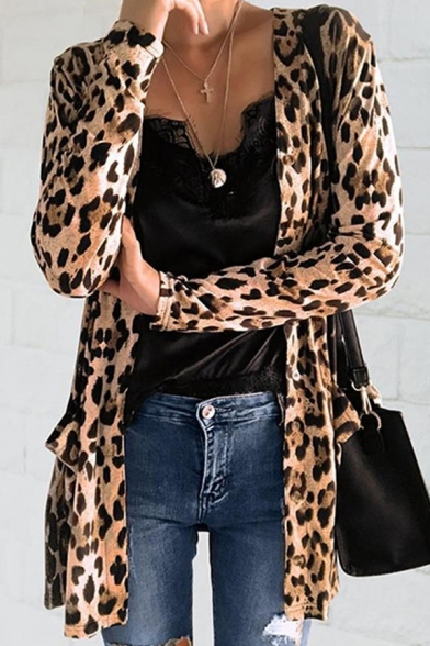 Stylish Long Sleeve Button Front Pocket Loose Fit Coat for Women