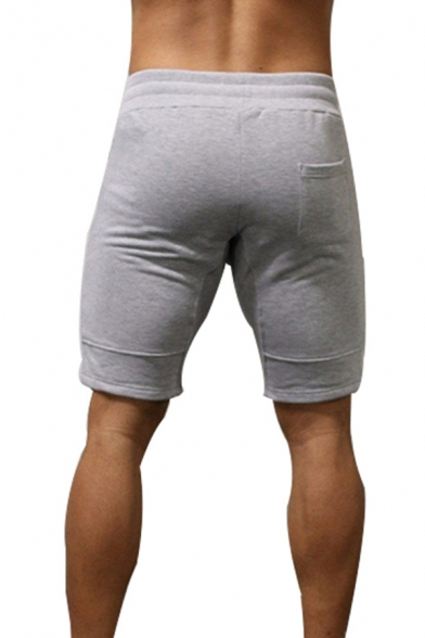 Basic Training Street Guys Drawstring Waist Logo Printed Fitted Shorts