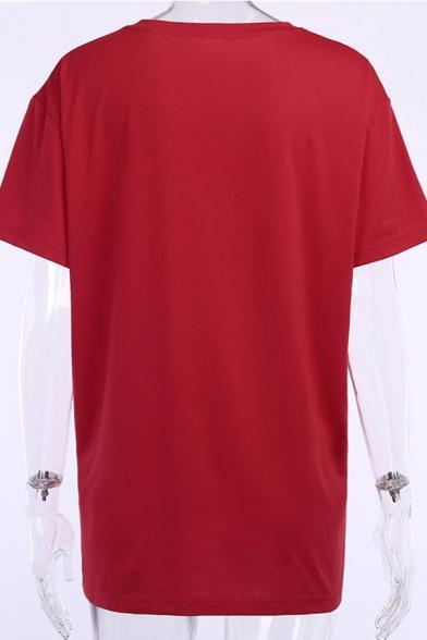 Popular Womens Short Sleeve Round Neck Letter I SURVIVED CORONAVIRUS 2020 Virus Graphic Oversize T-Shirt