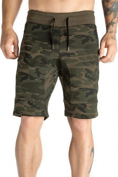 Cool Muscle Boys Drawsting Waist Camo Print Relaxed Fit Shorts