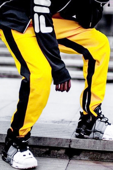 Streetwear Boys Drawstring Waist Contrasted Long Length Relaxed Sweatpants