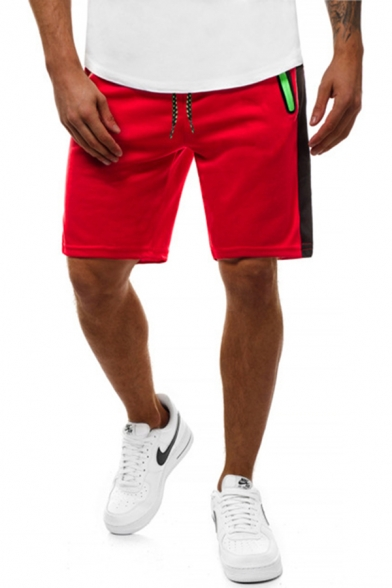 Sport Training Mens Drawstring Waist Contrasted Relaxed Fit Shorts