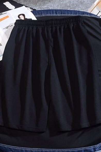 Trendy Mens Drawstring Waist Letter 23 CHINA Print Relaxed Shorts