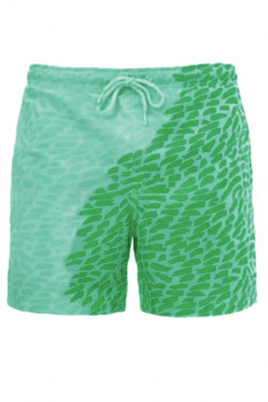 Beach Guys Stone Allover Printed Drawstring Waist Relaxed Fit Shorts