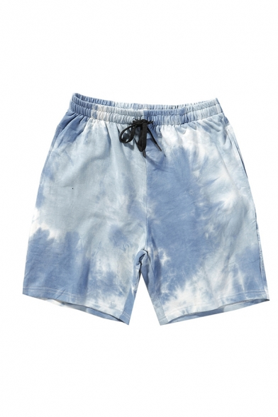 Novelty Mens Relaxed Shorts Tie Dye Drawstring Waist Regular Fitted Relaxed Shorts