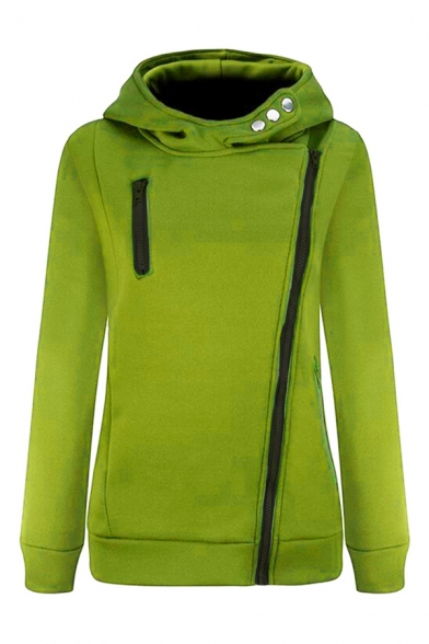New Arrival Hot Fashion Basic Simple Plain Zip Up Side Slim Hoodie