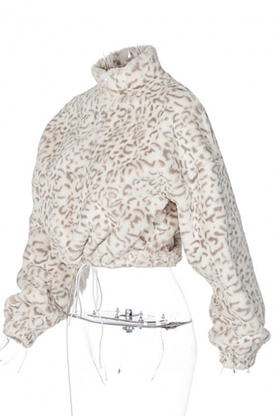 Basic Womens Pullover Sweatshirt Zipper Detail Fluffy Loose Fitted Turn-down Collar Long Sleeve Pullover Sweatshirt