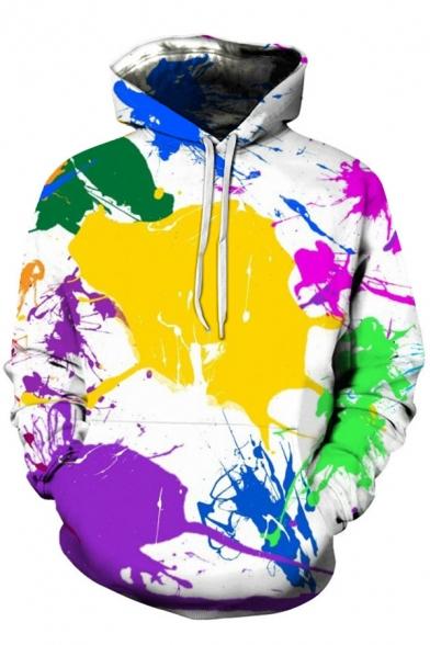 Cool 3D Colorful Graffiti Print Long Sleeve Loose Leisure Sport Hoodie