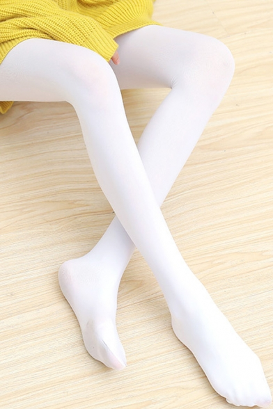 Cute Rabbit Pattern Slim-Fit Girlish White Trendy Tights