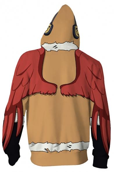 Mens Hoodie Simple Anime My Hero Academia 3D Cosplay Drawstring Zipper up Slim Fitted Long Sleeve Hoodie