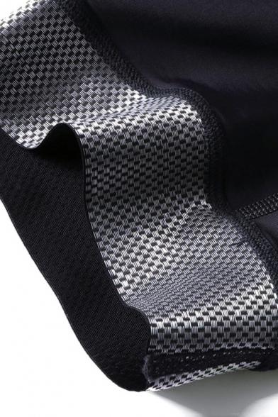 Classic Mens Shorts Sponge Pad Mesh Patchwork High-Elastic Ventilation Quick Dry Slim Fit Cycling Shorts