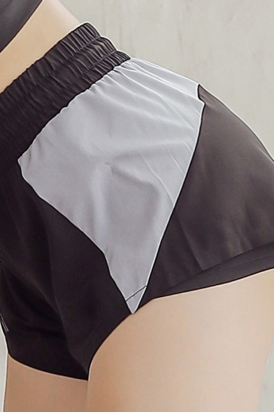 Training Girls Shorts Contrasted Drawstring Waist Quick-dry Relaxed Fit Shorts