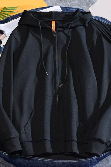 Boys Basic Hoodie Long Sleeve Zip Up Relaxed Fitted Hoodie