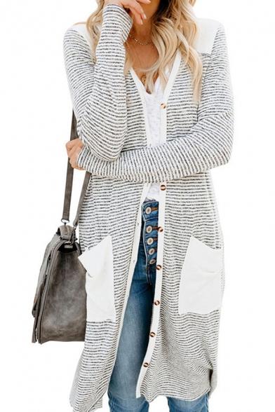Casual Womens Cardigan Camo Print Long Sleeve Button Up Tunic Regular Fit Knit Cardigan