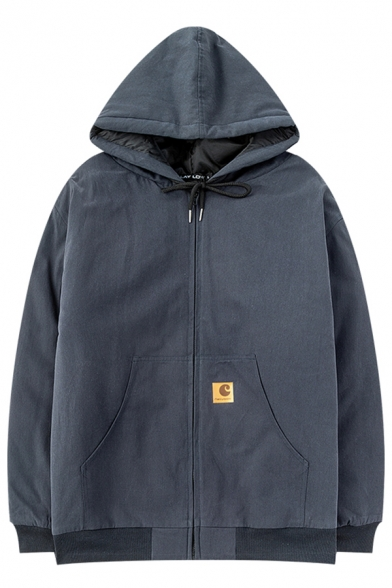 Mens Hoodie Stylish Kangaroo Pocket Drawstring Zipper up Long Sleeve Oversize Hoodie